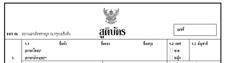 Register a Birth (Thai Birth Certificate)